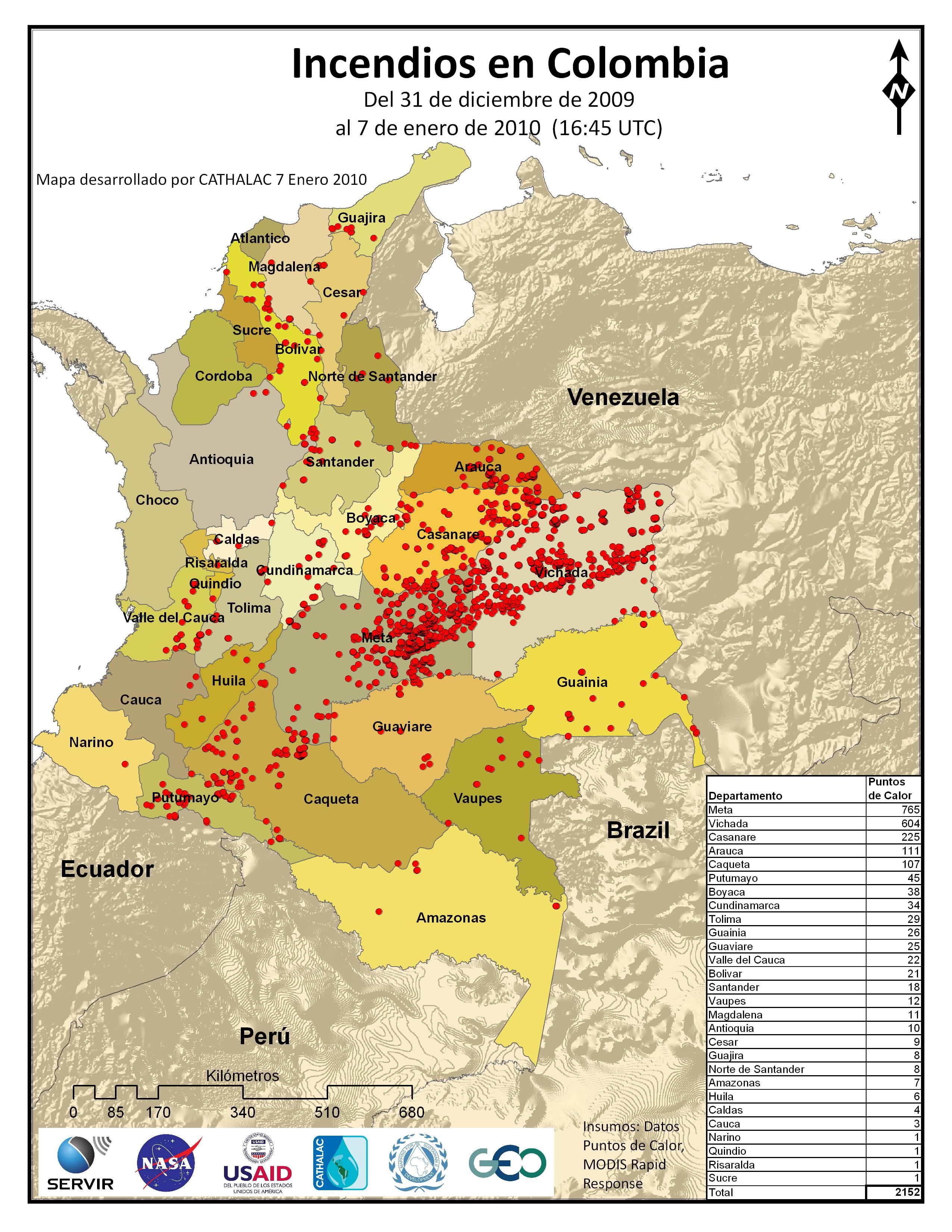 Incendios En Colombia Enero 2010 Servir Articles
