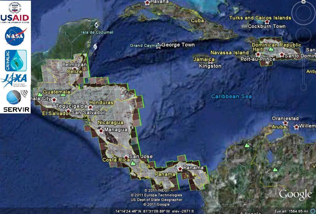 Mapa Centroamericano de Cobertura Arbrea 2010  Imgenes RADAR