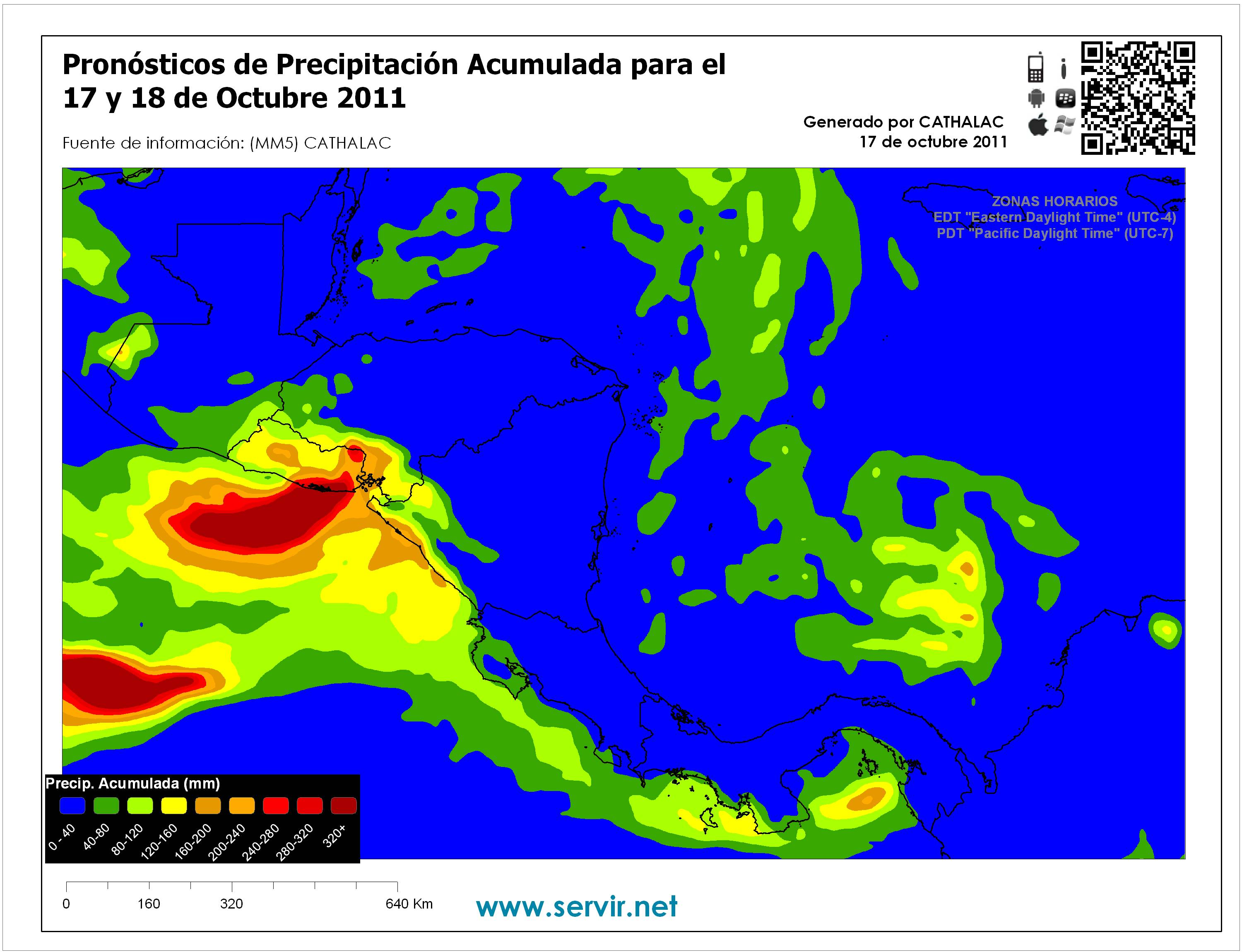 SERVIR analysis of heavy rains in the region of Central America and